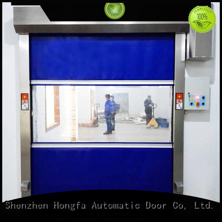 Hongfa automatic fabric roll up doors factory price for factory