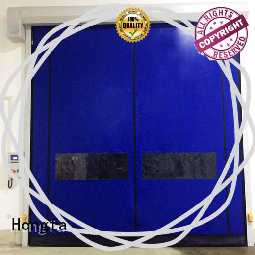 Self-repairing Zipper type high speed door
