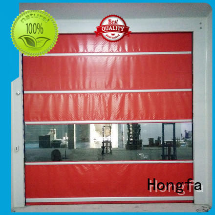 Hongfa safe high speed roller shutter doors oem for warehousing
