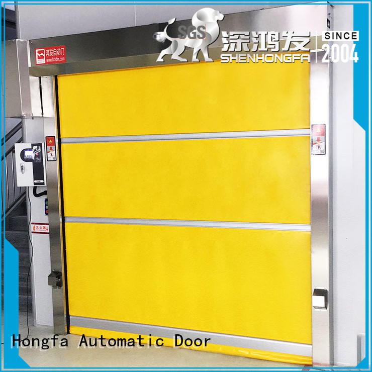 Hongfa oem rapid roll up door factory price for warehousing