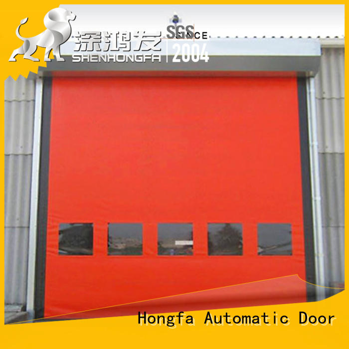 Hongfa perfect after-sale custom roll up doors experts for supermarket