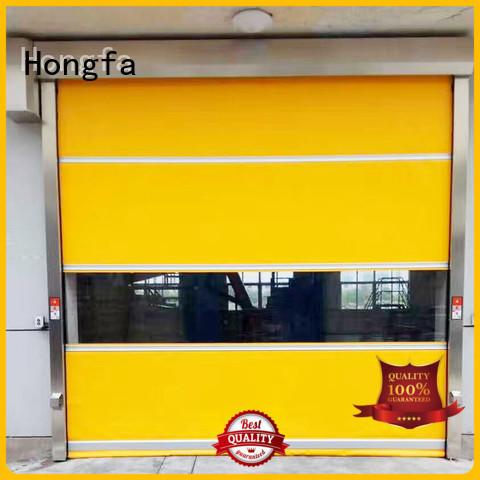 Hongfa safe industrial roller doors pvc for factory