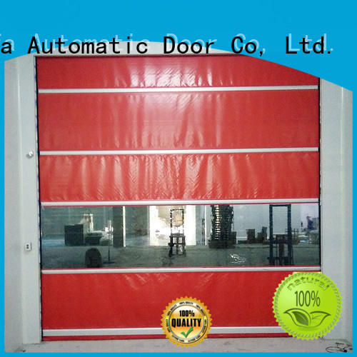 Hongfa safe roll up high speed door in different color for supermarket