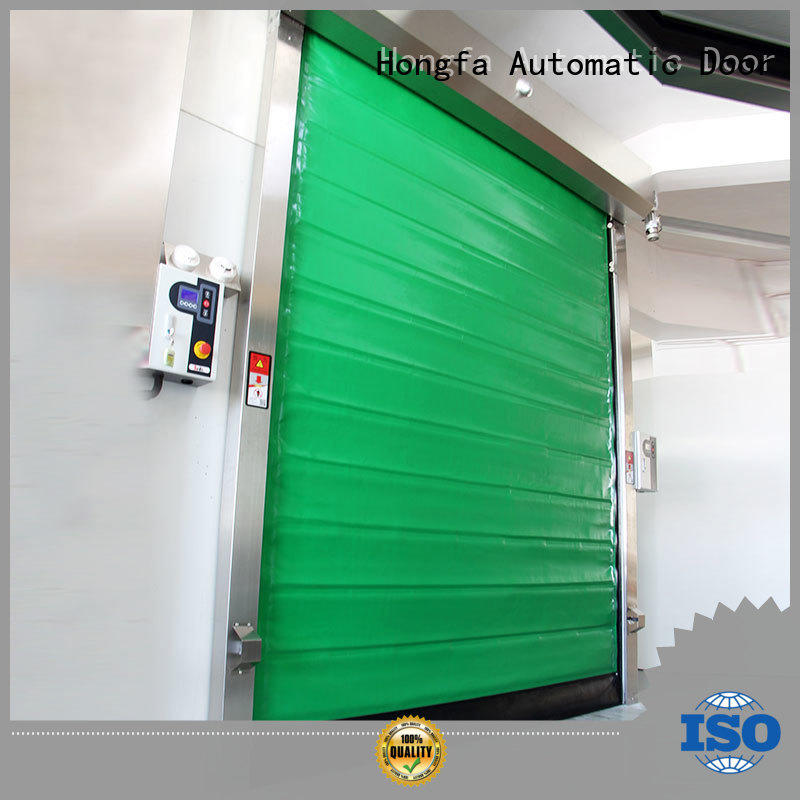 Insulated PU foam rapid cold storage door