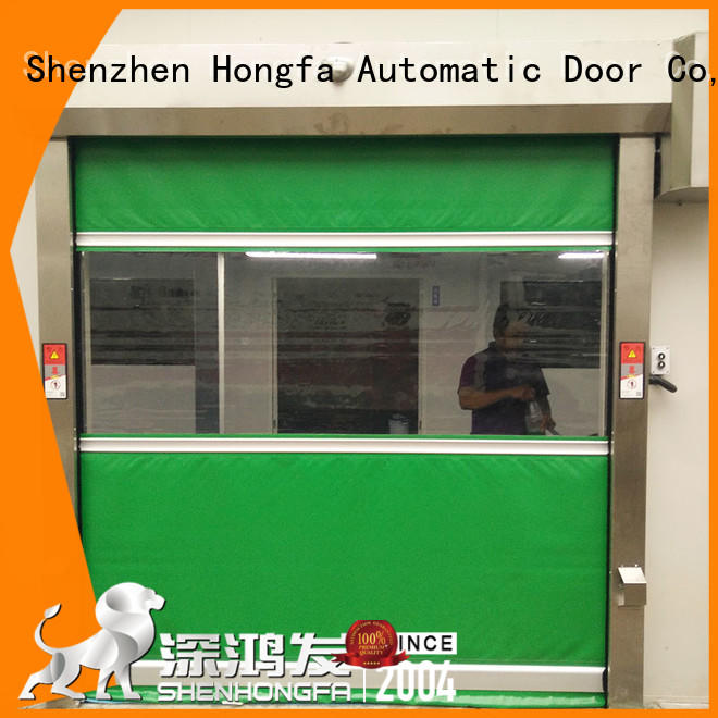 Hongfa high-quality rapid roll up door in china for food chemistry textile electronics supemarket refrigeration logistics
