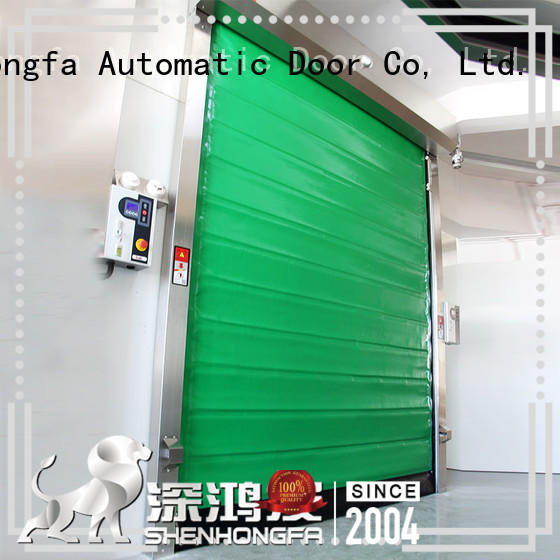Hongfa automatic fast shutter door pu for cold storage room