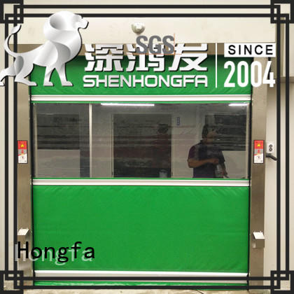 Hongfa perfect roll up door supplier for food chemistry textile electronics supemarket refrigeration logistics