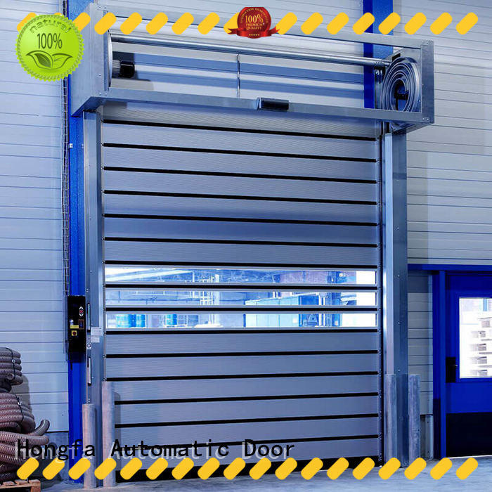 Hongfa security spiral fast door in different color for industrial warehouse