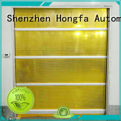 Hongfa fabric fabric roll up doors in different color for supermarket