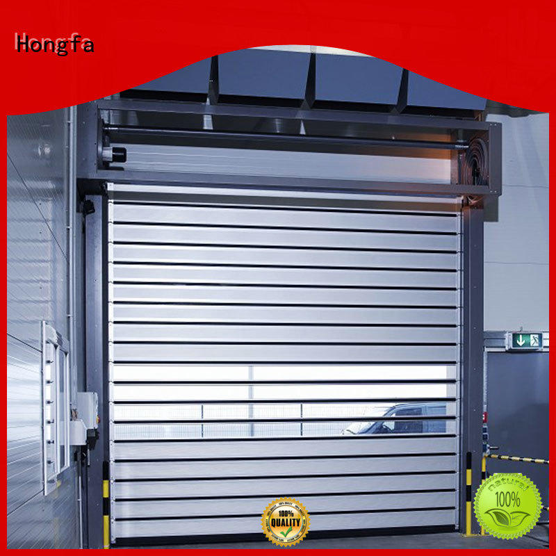 fashion design security door aluminum types for industrial warehouse