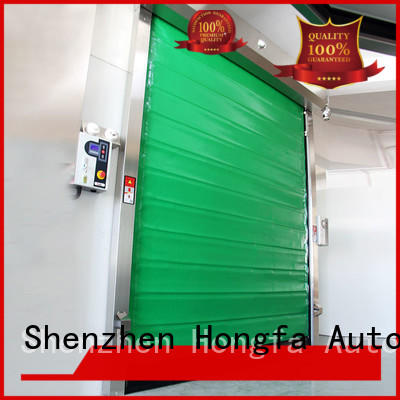 Hongfa rapid cold storage doors effectively for supermarket