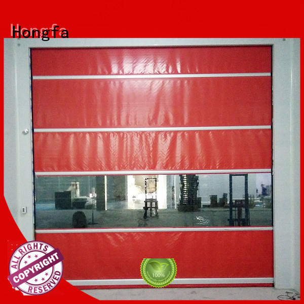 high speed industrial doors action for supermarket Hongfa