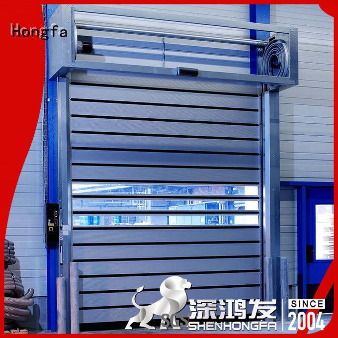 aluminum electric roll up door buy now for parking lot Hongfa