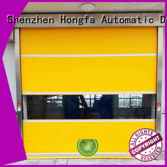 Hongfa automatic PVC fast door in different color for food chemistry textile electronics supemarket refrigeration logistics