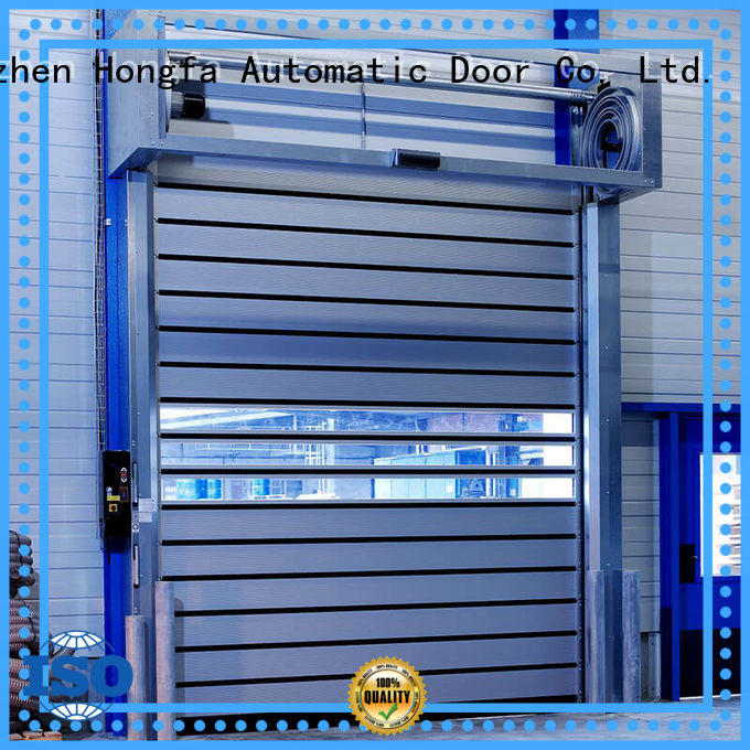 Hongfa security electric roll up door in different color for parking lot
