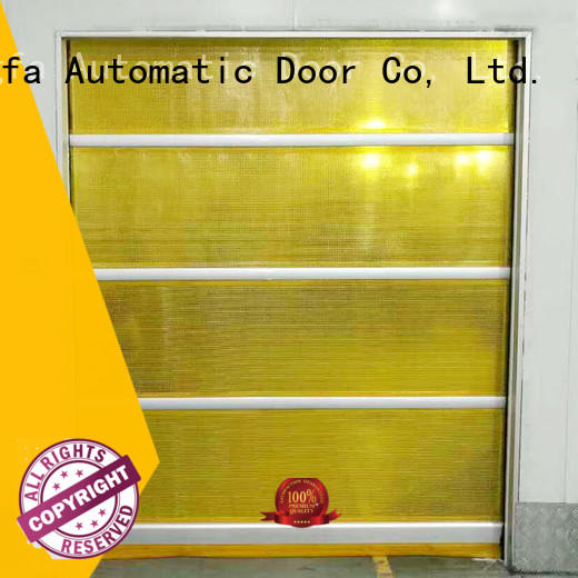 Hongfa efficient automatic roll up door factory price for supermarket