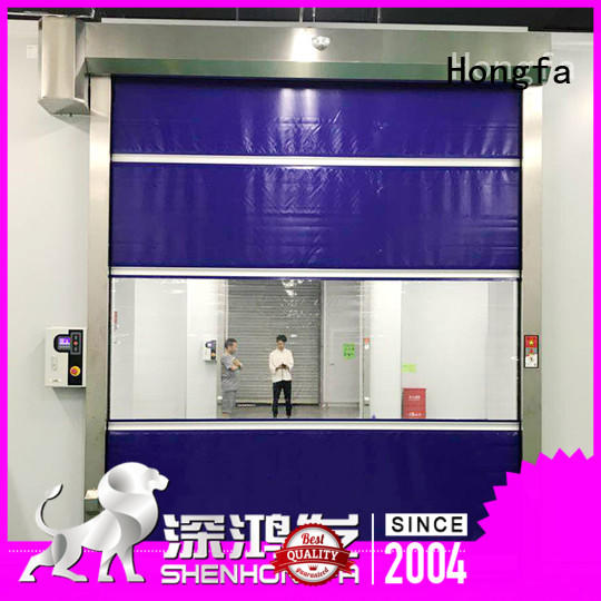 Hongfa safe fabric roll up doors supplier for supermarket