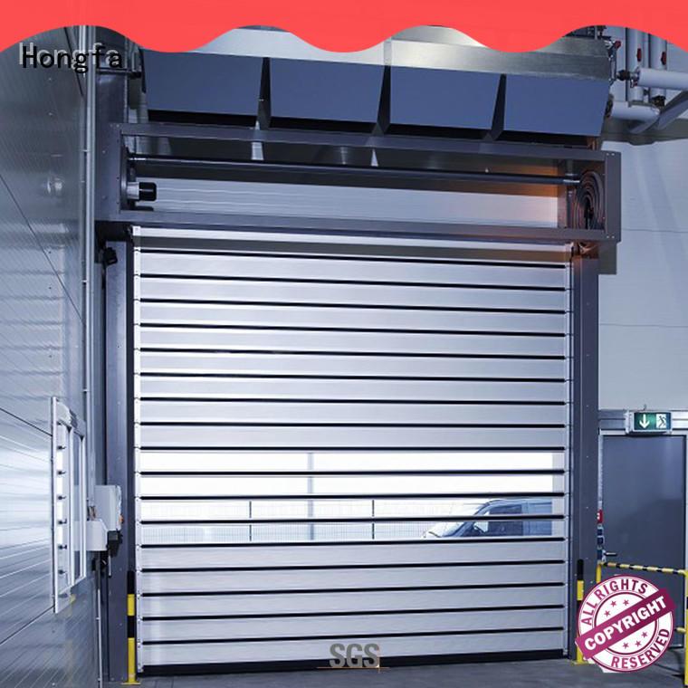aluminum high speed spiral door industrial for parking lot Hongfa