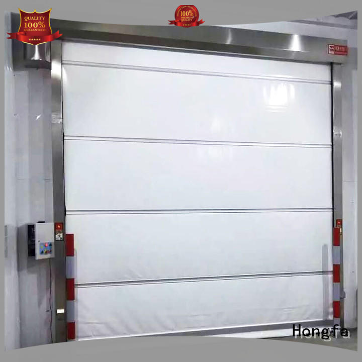 performance fabric roll up doors factory price for supermarket Hongfa