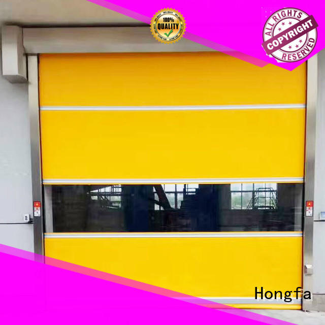 Hongfa automatic automatic roll up door factory price for storage