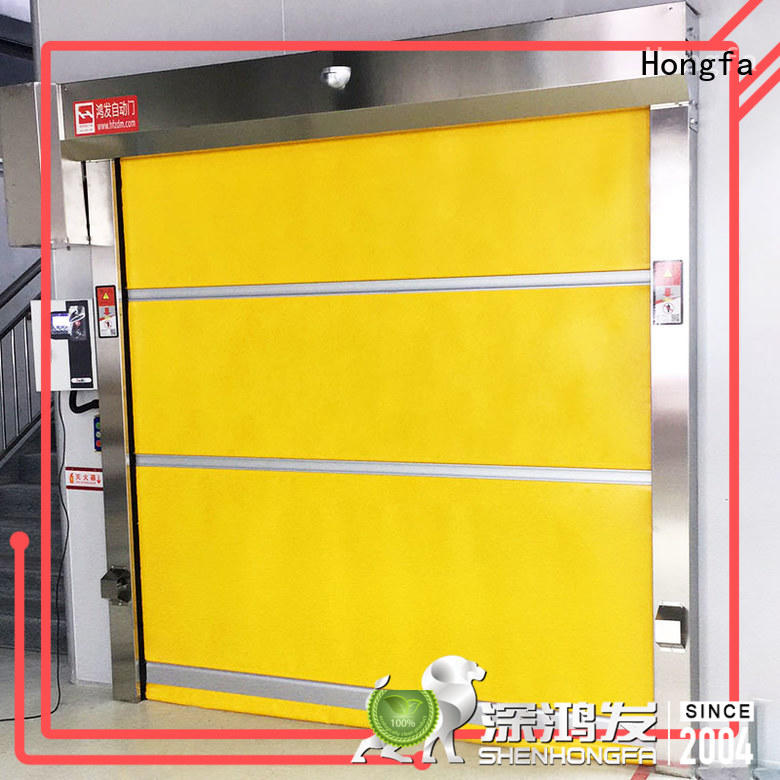 Hongfa professional roll up door in china for food chemistry textile electronics supemarket refrigeration logistics