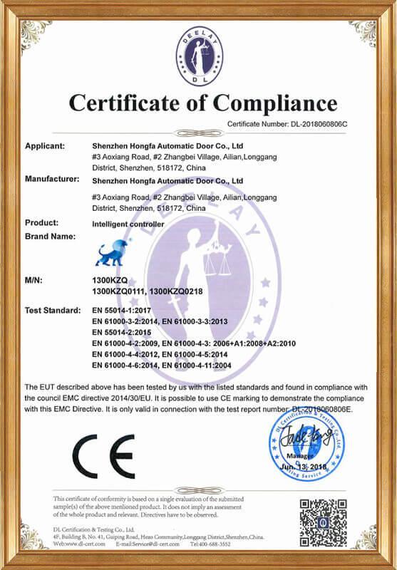 Intelligent controller LVD certificate