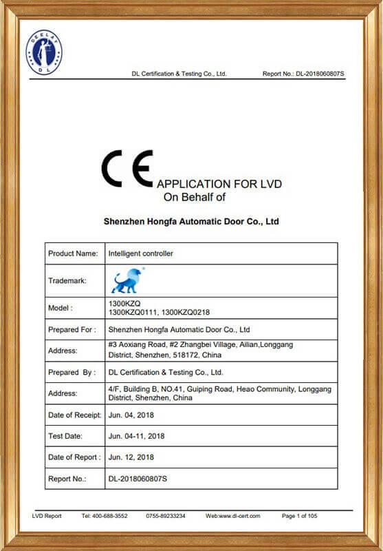 Intelligent Controller LVD Report DL-2018060807