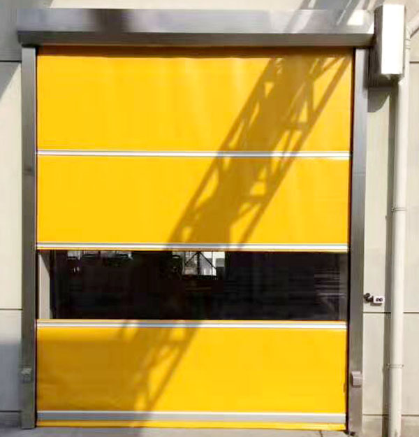 clear roll up high speed door overseas market for factory Hongfa-4