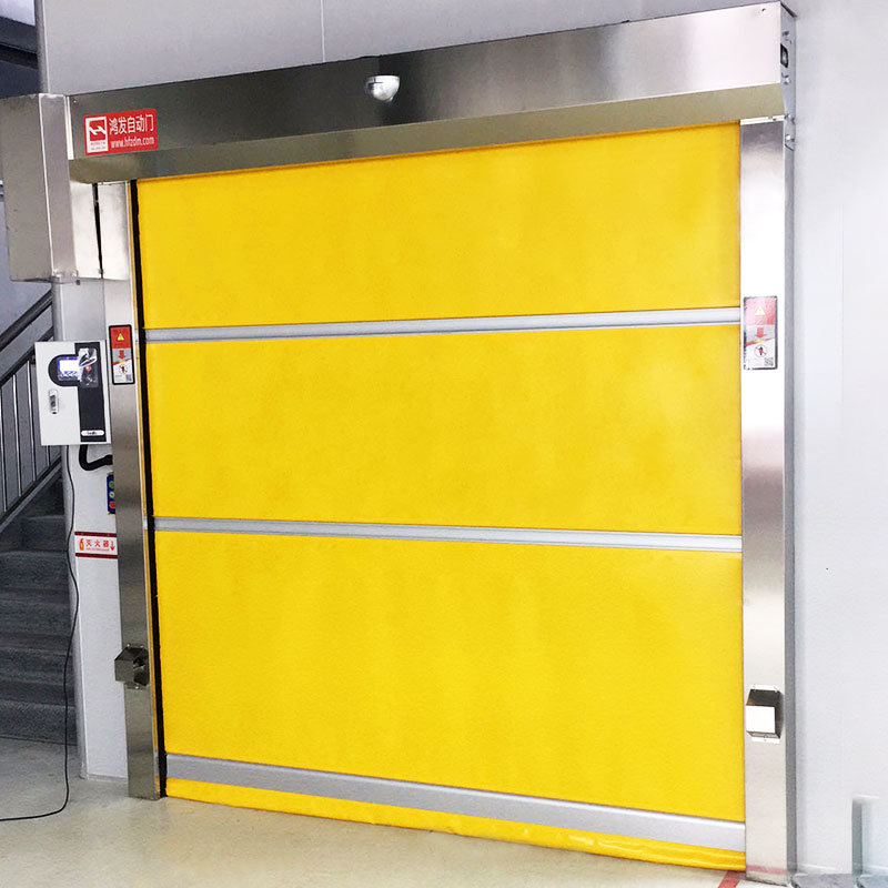 Hongfa remote fabric roll up doors factory price for storage-1