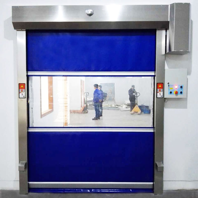 industrial garage doors in different color for food chemistry textile electronics supemarket refrigeration logistics Hongfa-1