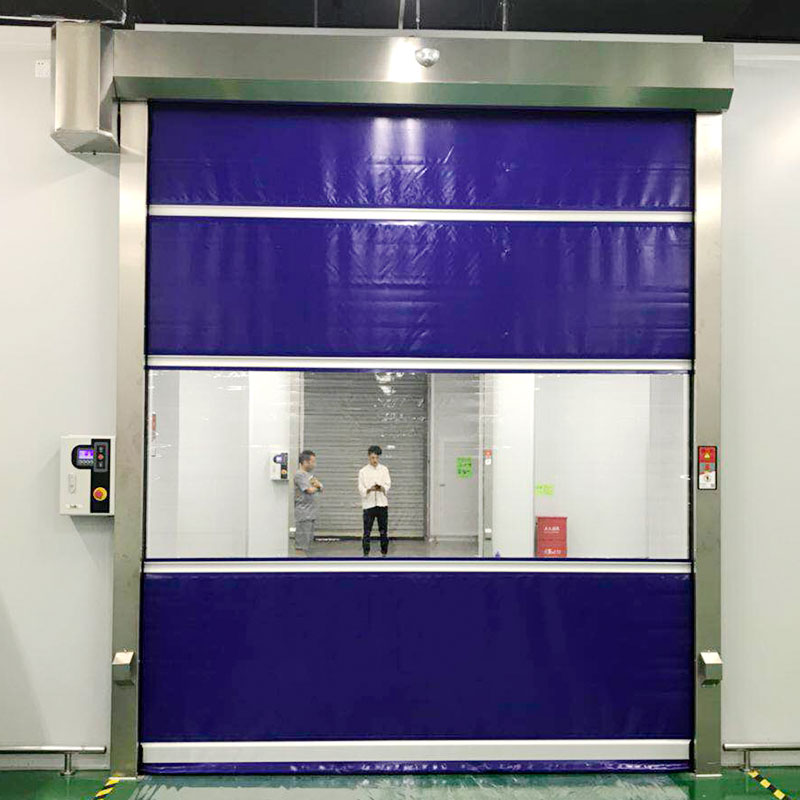 High performance fast flexible roll up door-1