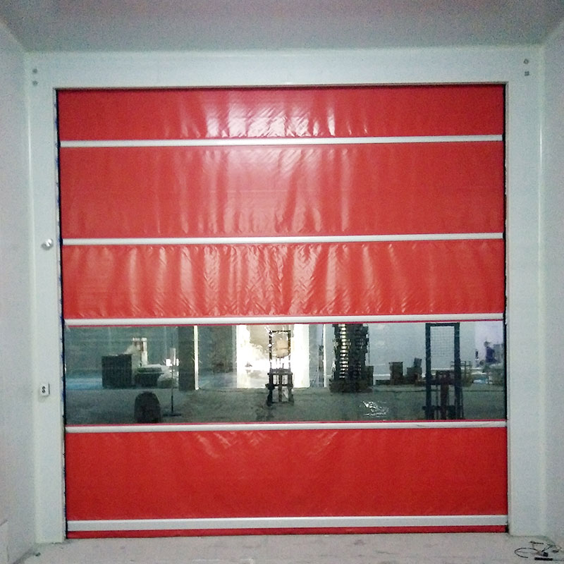 Hongfa curtain fabric roll up doors in different color for factory-1