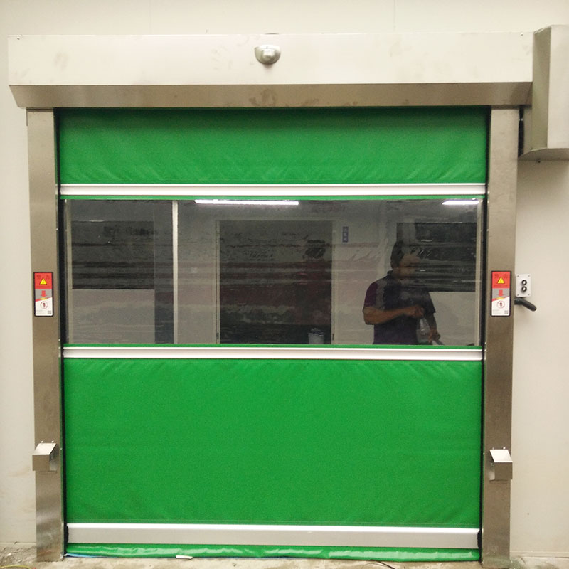 Hongfa automatic roll up high speed door in china for storage-1