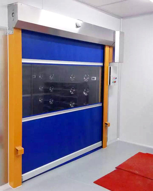 Hongfa automatic fabric roll up doors action for storage