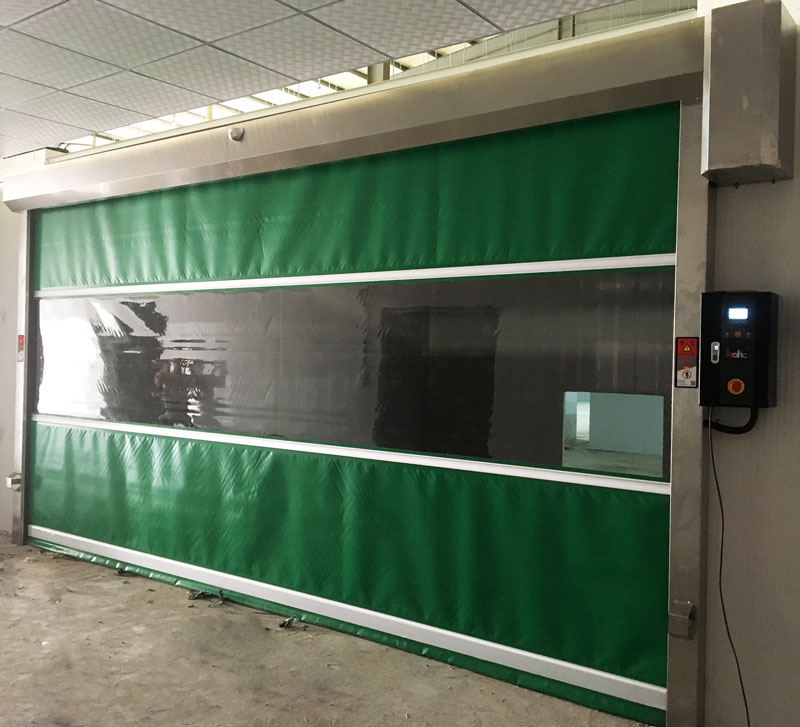 latest roll up dock door automatic factory for food chemistry textile electronics supemarket refrigeration logistics-3