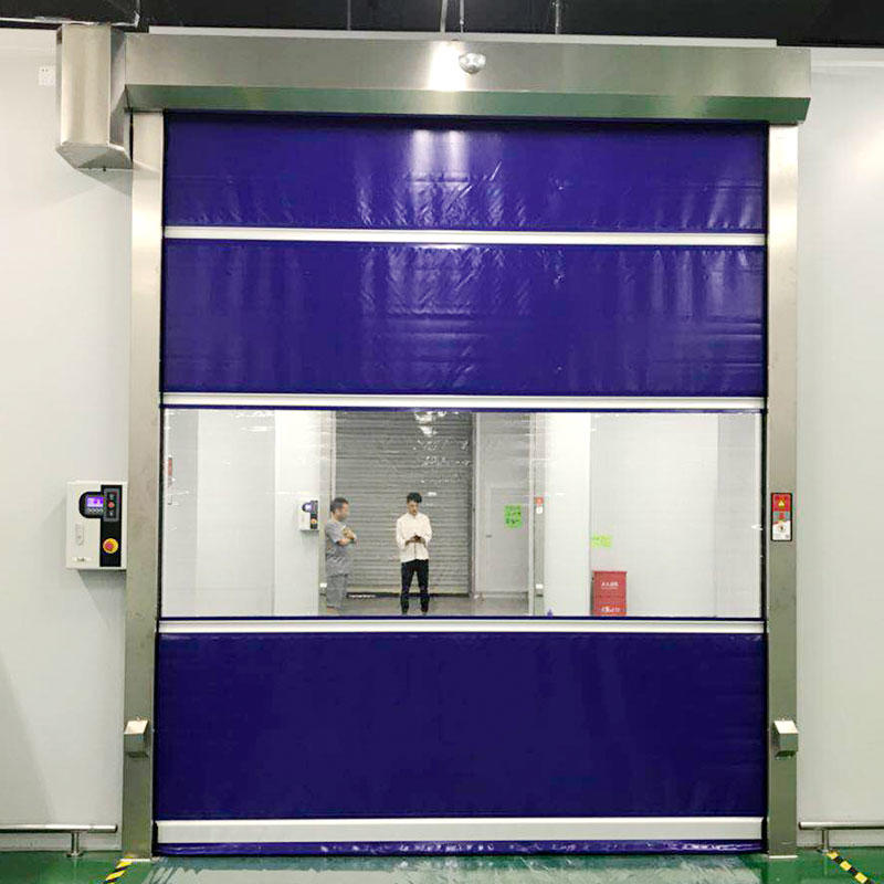 industrial garage doors in different color for food chemistry textile electronics supemarket refrigeration logistics Hongfa