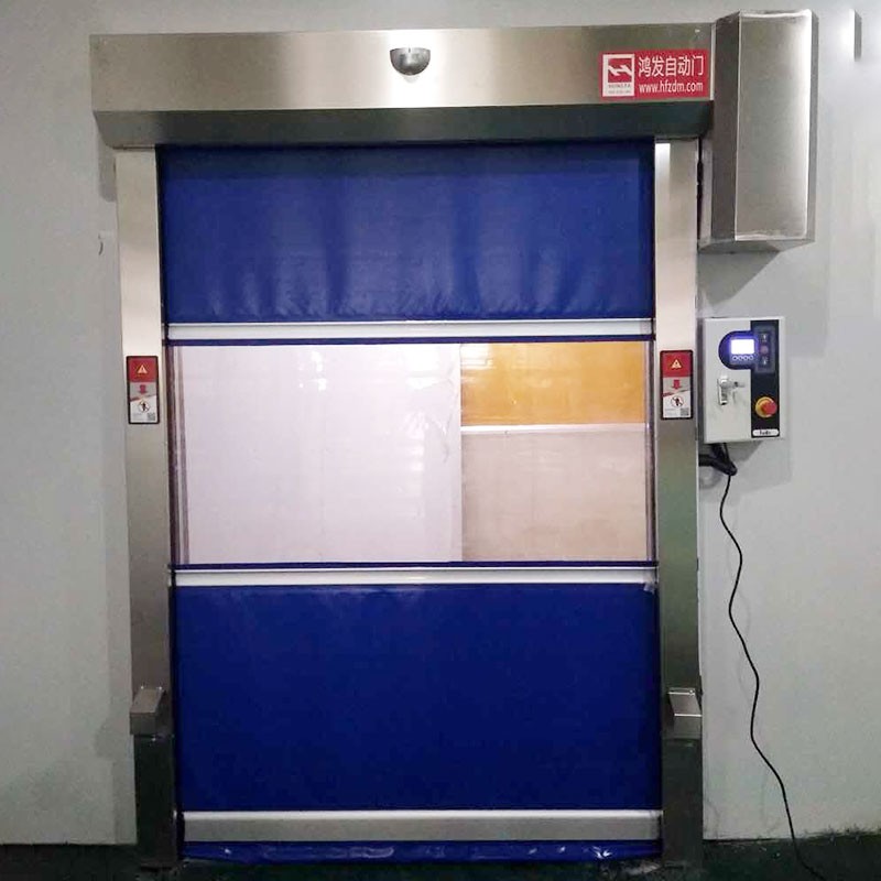 high-tech rapid roll up door plastic newly for food chemistry textile electronics supemarket refrigeration logistics-4