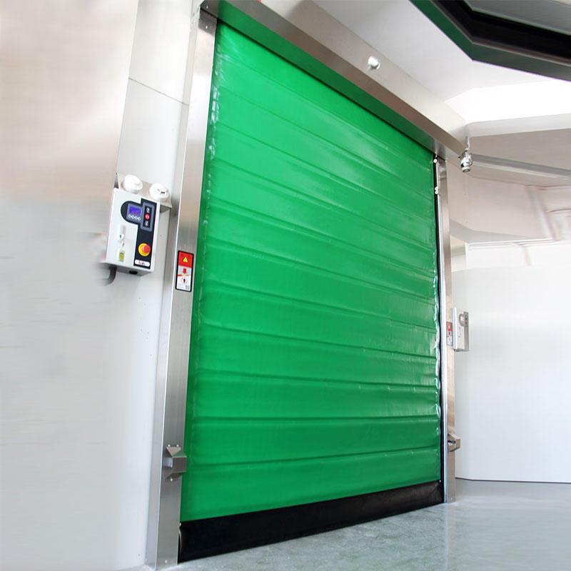 Insulated PU foam rapid cold storage door