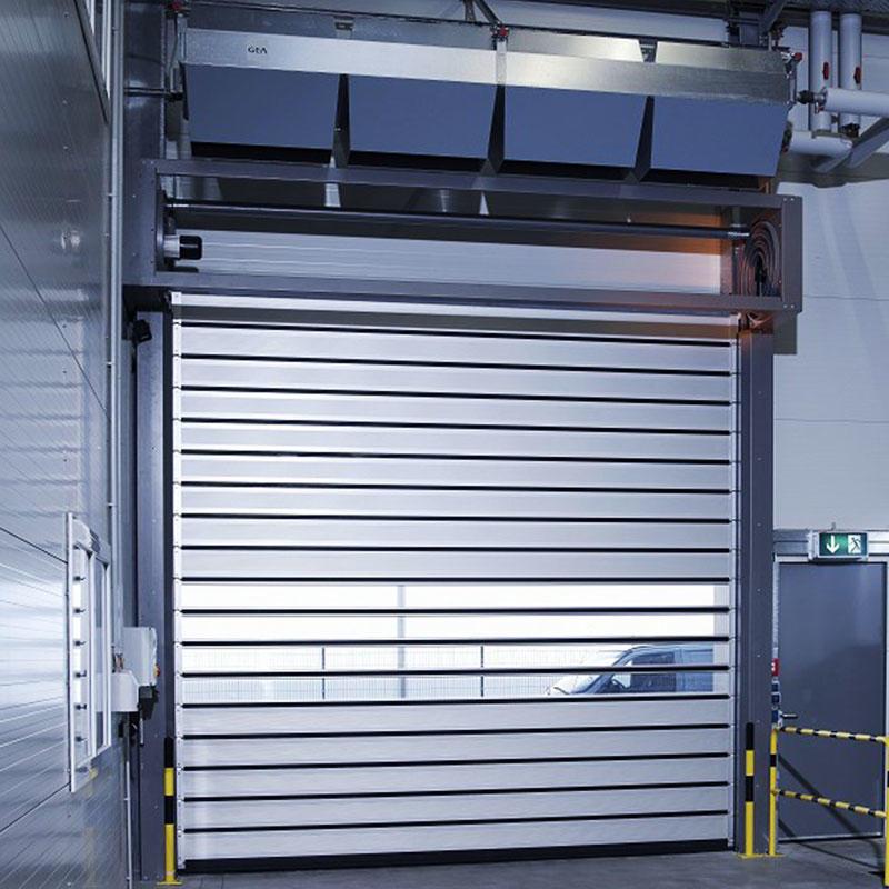 Automatic door aluminum spiral fast door