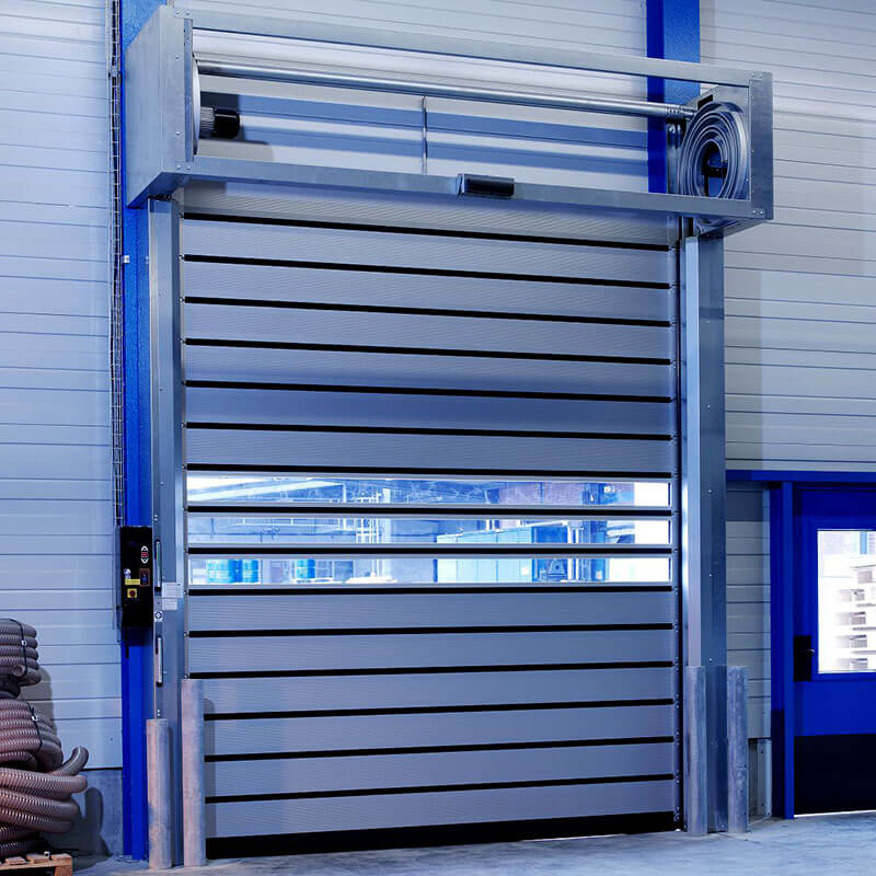 Hongfa security spiral fast door in different color for industrial warehouse-1