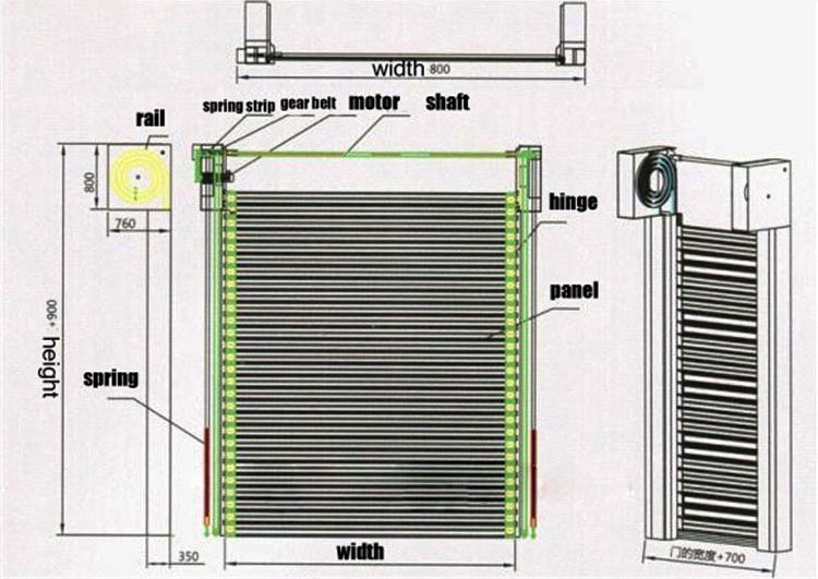 Hongfa security electric roll up door in different color for parking lot-4