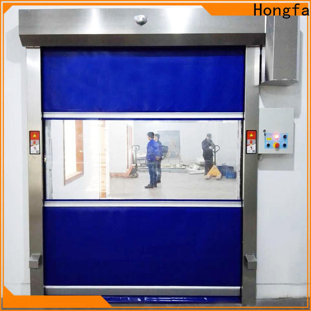 Hongfa control high speed fabric roll up doors marketing for supermarket