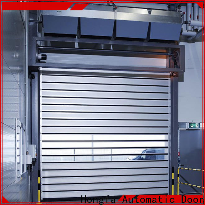 Hongfa industrial spiral fast door from china for parking lot
