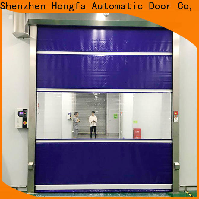 Hongfa remote vinyl roll up garage doors company for factory