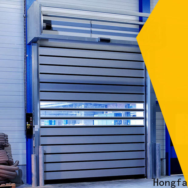 Hongfa spiral security industrial fast door company for industrial warehouse