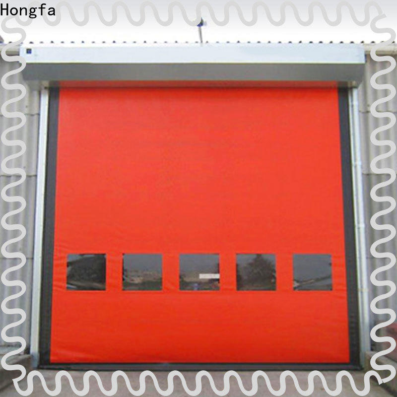 Hongfa new arrival overhead rolling door prices supply for food chemistry