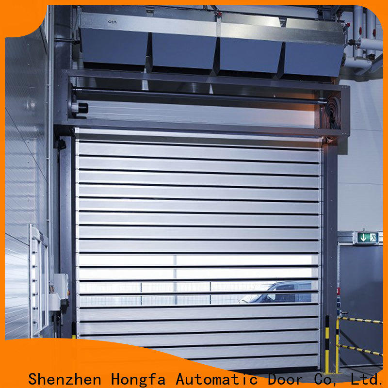 Hongfa latest high speed spiral door from china for cold room