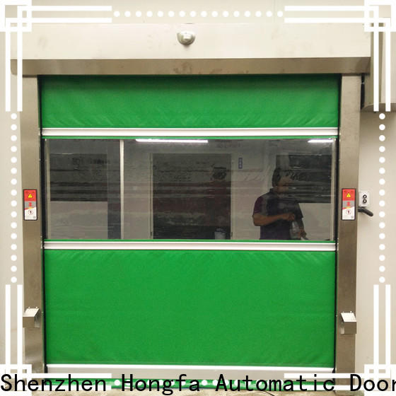 Hongfa perfect rapid roller shutter doors in different color for food chemistry textile electronics supemarket refrigeration logistics