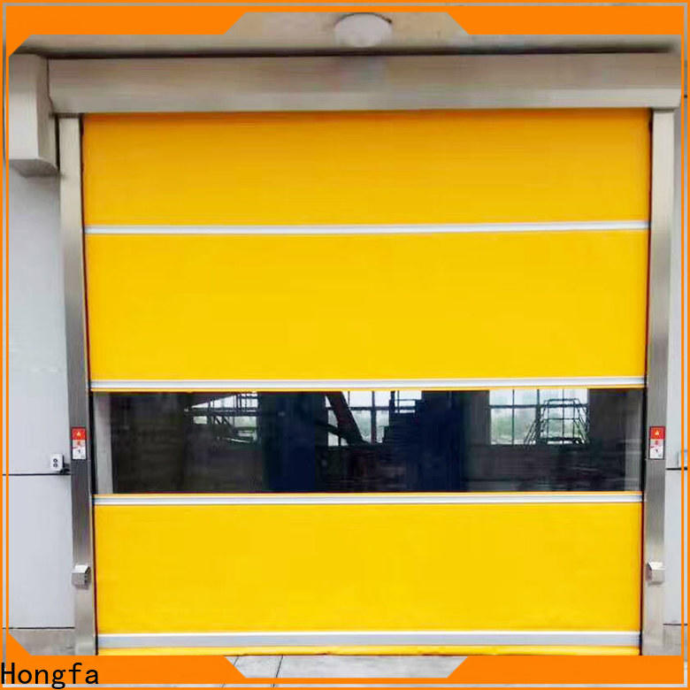 Hongfa automatic automatic high speed doors factory price for food chemistry textile electronics supemarket refrigeration logistics