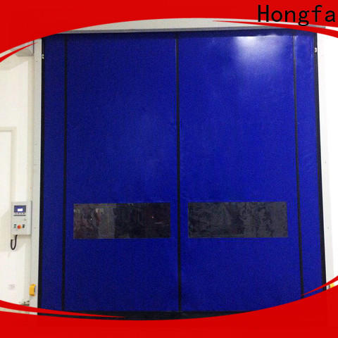 Hongfa selfrepairing roll up door company marketing for cold storage room